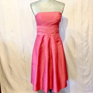 Sz 2 Ann Taylor Silk Taffeta Pink Strapless Formal